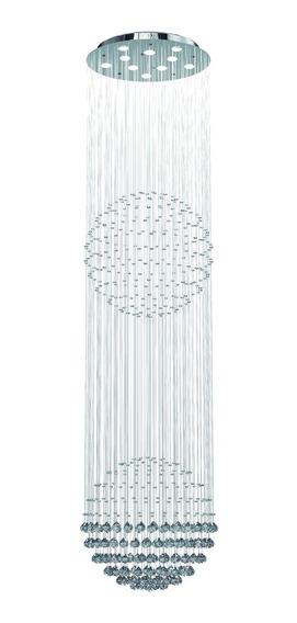 Lustre,esfera,dupla,cristal,legitimo P/pé Direito Alto