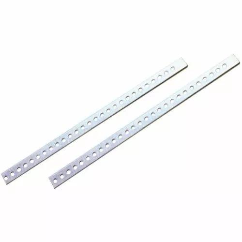 100 Peças Varão Perfurado Fixação Aparelhos Travas - 35cms