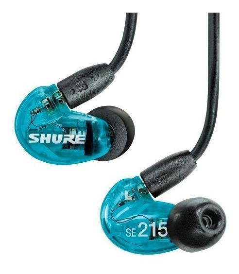 Shure Se215 Fone De Ouvido In Ear Azul Na Caixa!!!