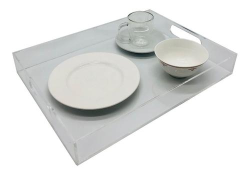 Bandeja Desayuno En Acrílico Cristal 40cm X 30cm