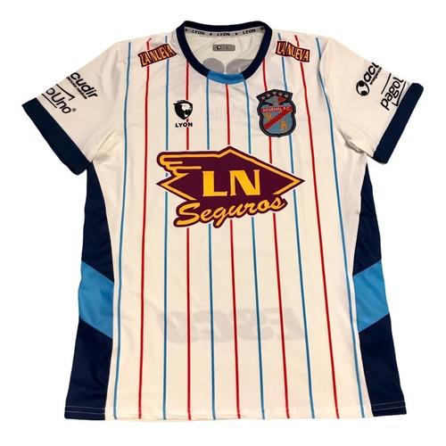 Imagen 1 de 2 de Camiseta Arsenal De Sarandi Alternativa Blanca Lyon 2021/22