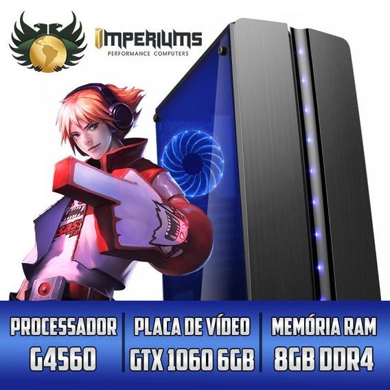 Cpu Gamer Imperiums G4560 8gb Hd 1tb 1060 6 +30 Jogos Rtw G1