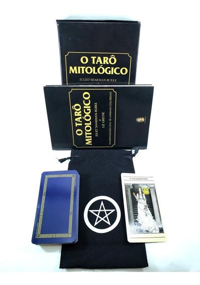 Tarô Mitológico Livro Tarot 78 Brinde Estojo Para Cartas