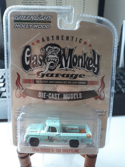 Miniatura Greenlight Dodge D100 1964 Gas Monkey 1/64
