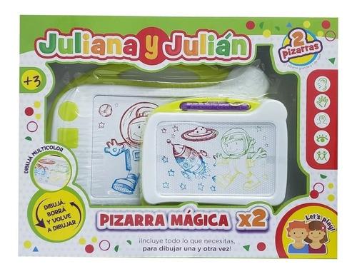 Pizarra Magica X2 Juliana Y Julian Multicolor Diversion
