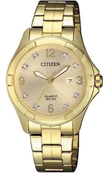 Relógio Citizen Feminino Ref: Tz28502g Social Dourado