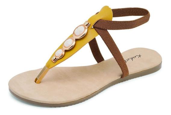 Sandalias Para Dama / Amarillo