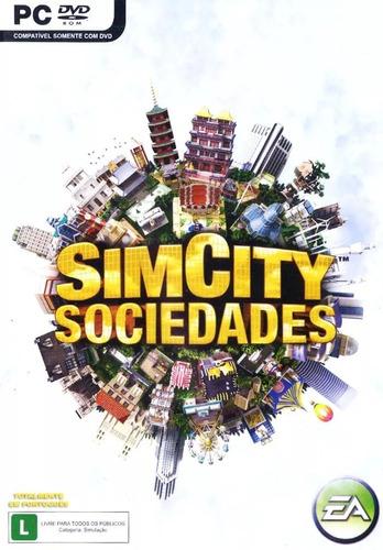 Dvd Jogo Simcity Sim City Sociedades Mídia Física Pc