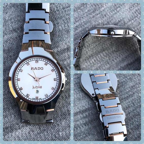 Reloj Rado Tungsteno Cristal Zafiro Para Caballero Plata