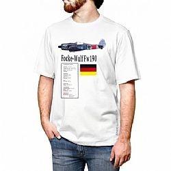 Camiseta Avião Focke-wulf Fw 190 Branca Tam Gg Aero T-shirt