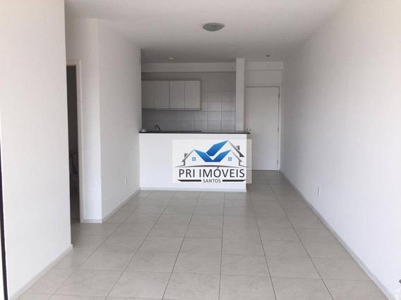 Apartamento Para Alugar, 92 M² Por R$ 3.200,00/mês - Ponta Da Praia - Santos/sp - Ap0986