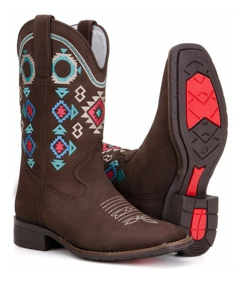 Bota Country Feminina Texana Rodeio 100% Couro Capelli 5035