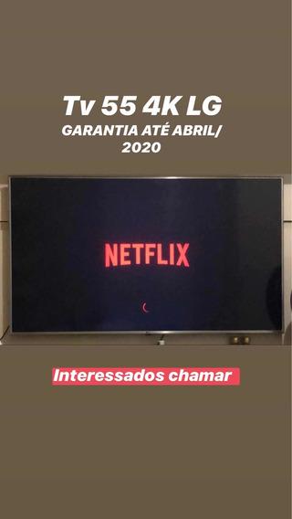 Tv Lg 55 Polegadas 4k - Garantia Até Abril De 2020