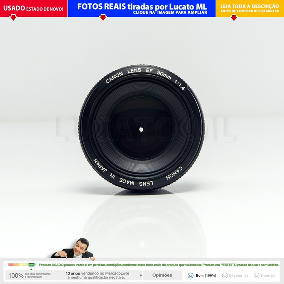 Lente Canon Ef 50mm F/1.4 Usm Fixa Prime Impecável | 2a