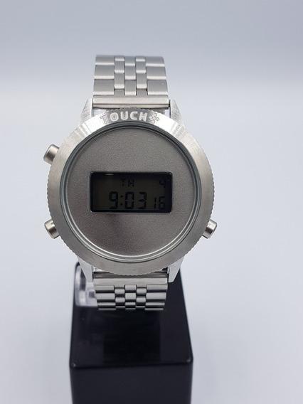 Relógio Feminino Touch Aço Prata Esportivo Digital