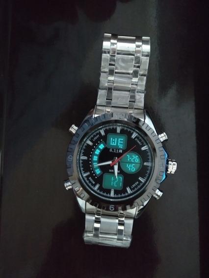 Relógio Preto De Pulso Masculino Inox + Promoção Barato 6.11