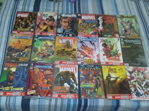 Coleção Revistas Hqs Marvel Dc Comics