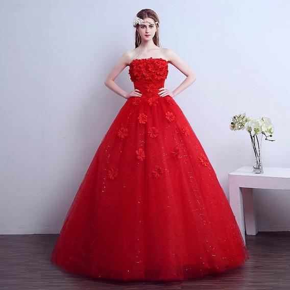 Vestido Quinceañera Barato Hermoso Flores Xv Años Staple