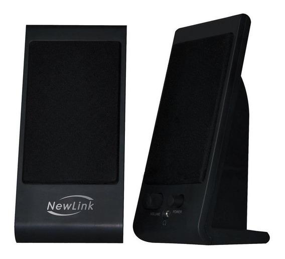 Caixa De Som Para Notebook 4w Rms Slim - Newlink Sp203