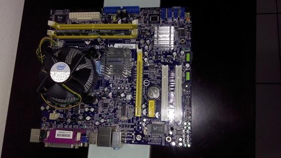 Placa Mãe Foxconn N15235, Processador Dual Core 2g Ram