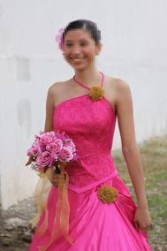 Vestido Xv Años Color Fucsia