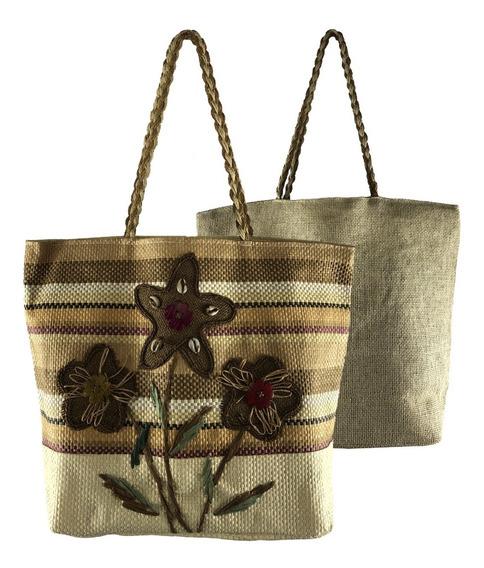 Bolsa Feminina Grande Tipo Sacola Comercial Textil Hy15144