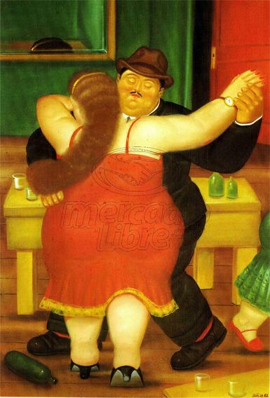 Lienzo Tela Canvas Arte Bailarines Fernando Botero 126x85