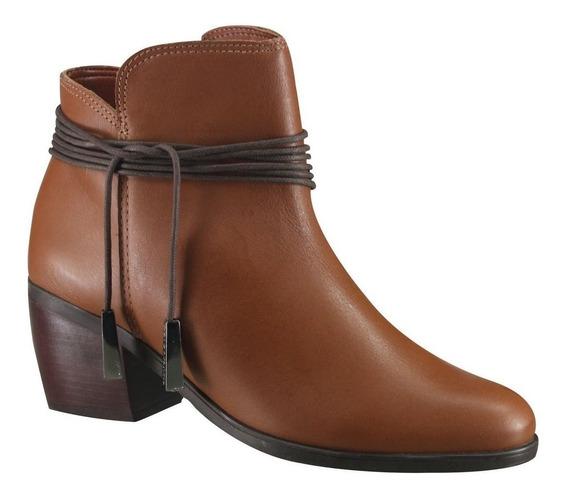 Bota Cravo E Canela Ankle Boot 144213-2   Katy Calçados