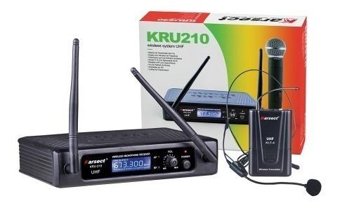 Microfone Sem Fio Karsect Mao Kru210m Profissional Kru210 M