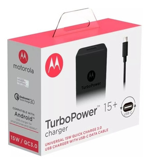 Carregador Turbo Motorola Moto G6 G6s Plus Turbo C Original
