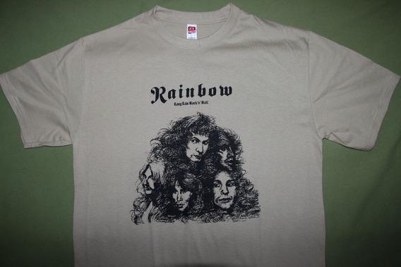 Gusanobass Playera Rock Metal Rainbow Long Live Dio X L