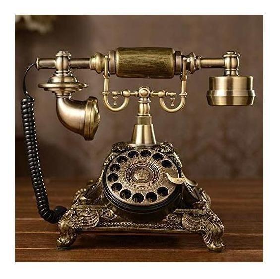 Xichen Teléfono Retro, Antiguo, Vintage, A Disco De Resina