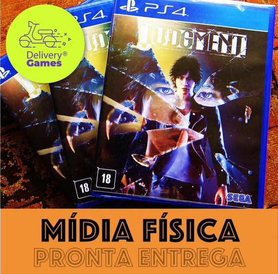 Judgment (estilo Yakuza) Ps4 Mídia Física Novo Lacrado + Nf