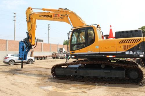Imagen 1 de 8 de Excavadora Hyundai - Doosan - Martillo - Acople - Cargador