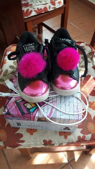 Zapatillas Addnice Minnie Con Led