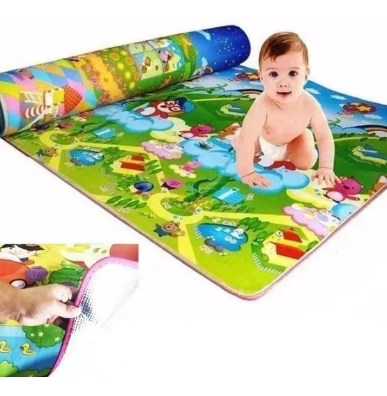 Tapete Infantil Grande 1,80 X 1,00 Bebê Atividades Conforto