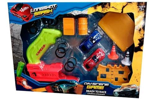 Pista De Choques 2 Carros + 1 Lanzadores Juguete Niños Regal