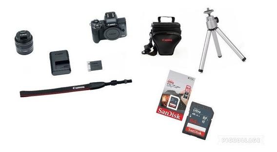 Canon Eos M50 Tef-m15-45mm Ls.m+bolsa+tripe,64gb C10 C/nf