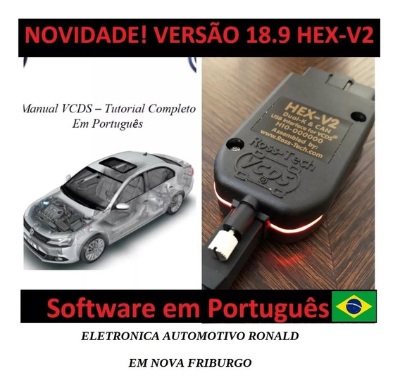 Novo! Vcds 18.9 Hex V2 + Manual Ativações Em Português -2019