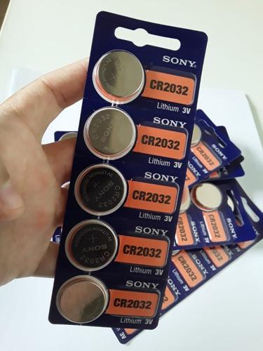 10 Pilhas Baterias Sony Cr 2032 3v Lithium Original
