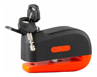 Candado Disco Freno Moto Sxp Mda01 Rojo 10 Mm Con Alarma