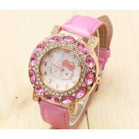 Relógio Feminino De Pulso Hello Kitty Rosa Bebê