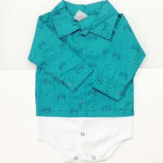 bbb4c908ab6c Body Social Bebe - Bodies Longa Azul de Bebê no Mercado Livre Brasil