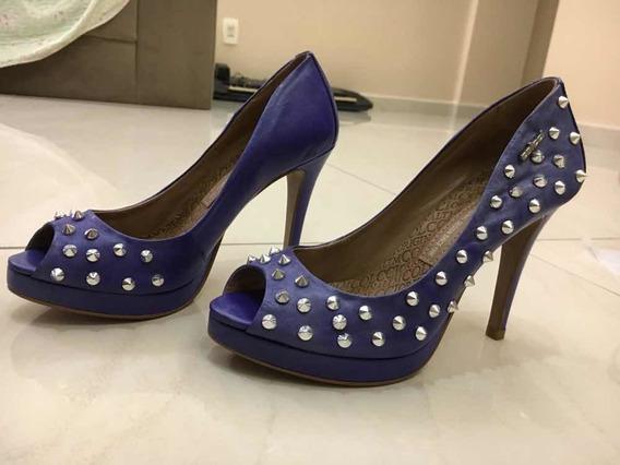 Sapato Peep Toe, Colcci, Com Spikes, Tamanho 35.