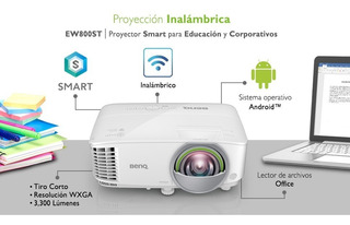 Proyector Benq Smart Tiro Corto Ew800st Inalámbrico Android