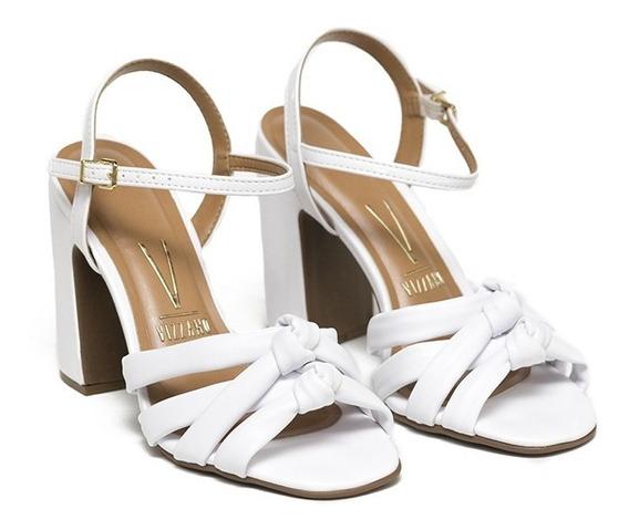 Sandalias Mujer Cuero Sintetico Alto Zapatos Vizzano Dama