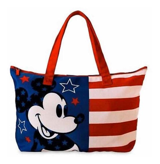 Bolso Playa De Lona Mickey Mouse Americana Disney Store