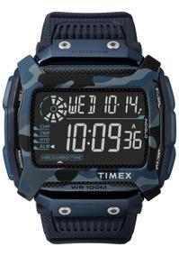 Relogio Timex Command Shock Azul Camuflado - Tw5m20500