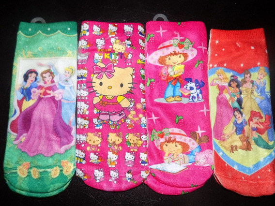 Medias Disney Niñas Princesas Hello Kitty Dora Hanna 8 Pack