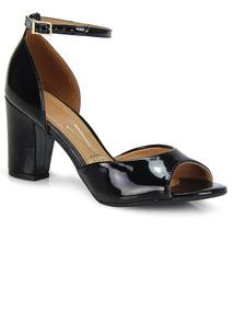 6919e5cb2a Sandália Salto Médio Schutz Verniz New Preto - Sapatos no Mercado ...